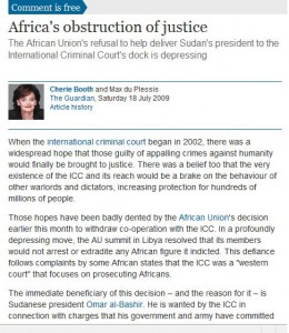 Cherie Blair's article