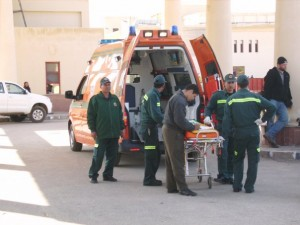 Ambulance workers at the Rafah border crossing. Image © Copyright Osama Diab.