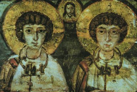 Were the Christian martyrs Saint Sergius and Saint Bacchus involved in a medieval &quot;same-sex union&quot;?