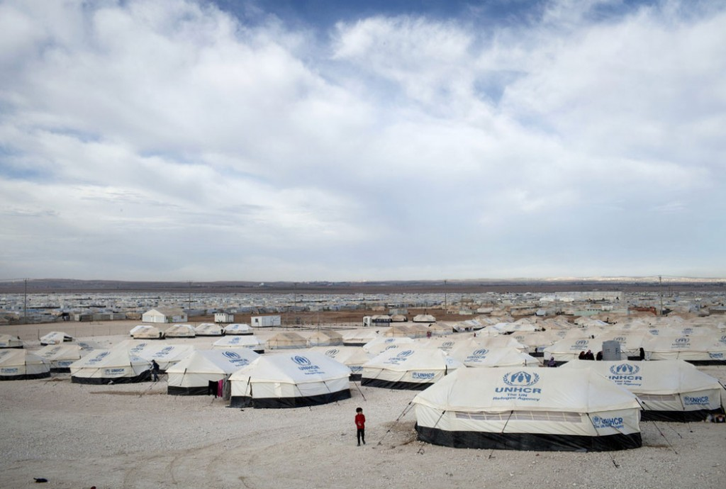 While the world watches on, millions of Syrians have been displaced internally or made refugees. The Zaatari camp has become Jordan's third largest population centre. Photo: Anastasia Taylor-Lind/Oxfam