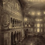 The Hagia Sophia when it was a mosque.
