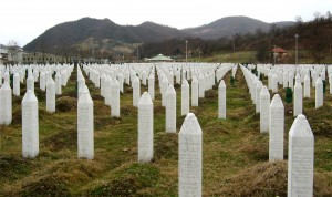 The Potočari genocide memorial near Srebrenica.